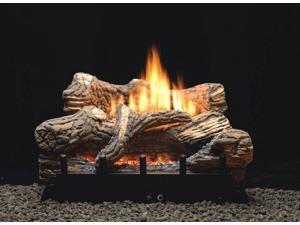 Thermostat 5-piece 18 inch Ceramic Fiber Log Set - Liquid Propane