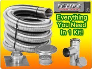 Lifetime 5.5X35 Single Wall Chimney Liner Kit