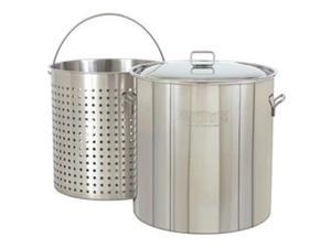 Bayou Classic 142 Quart Stainless Stockpot with Lid and Basket