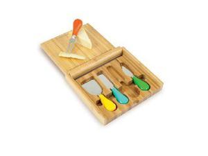 Carnaval Cutting Board And Cheese Tools