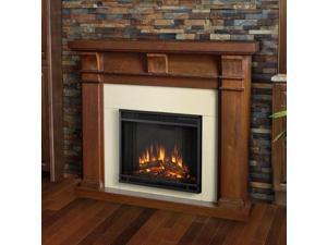 Porter Electric Fireplace in Walnut