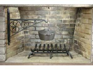24'' Wrought Iron Fireplace Crane