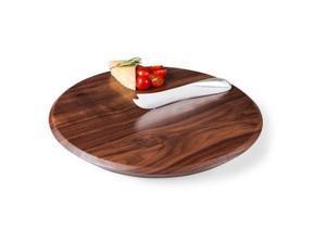 Solstice Black Walnut Cutting Board and Cheese Knife Set-Black Walnut