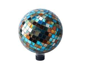 Mosaic 10 inch Gazing Ball - Blue/Amber
