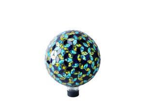 Mosaic 10 inch Gazing Ball - Blue/Yellow