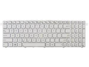 New laptop chiclet keyboard for ASUS G72GX G73Jh US UI layout White color with white frame