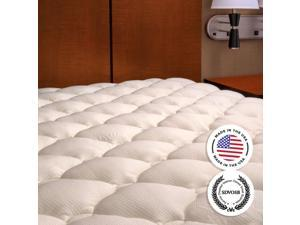 Extra Plush Bamboo Top Mattress Pad, Full Size