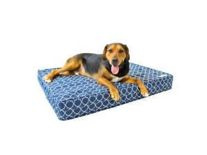 Dog Bed ? Royal Blue   Orthopedic Gel Memory Foam ? Made in the USA   Durable 100% Cotton Canvas Cover   Waterproof Encasement   Machine Washable   Small, Medium & Large Dogs