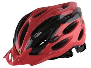 Ferrari Adult Sports Bicycle Cycling, Road/ Mountain Helmet, Protecting, Lightweight, Helmet, Black/Red