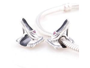 [Search Name: Love My Heel] European Antique 925 Solid Sterling S925 Bead, Fit European Bracelets Necklaces Chains, Troll
