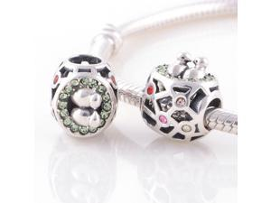 [Search Name: Nestling, Mixed Color] European Antique 925 Solid Sterling 925 Bead, Fit European Bracelets Necklaces Chains, Troll