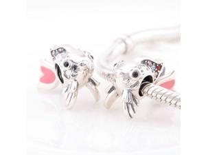 [Search Name: Gold Fish] European Antique 925 Solid Sterling S925 Bead, Fit European Bracelets Necklaces Chains, Troll