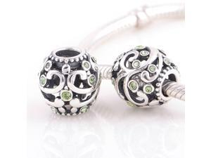 [Search Name: Swirling Dreams , Chrysolite] European Antique 925 Solid Sterling S925 Bead, Fit European Bracelets Necklaces Chains, Troll