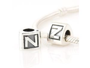 [Search Name: Z] European Alphabet and Nunber Bead, 925 Solid Silver