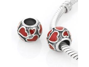 [Search Name: Hot Love] European Enamel, 925 Solid Sterling Charm Bead