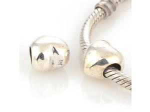 [Search Name: Pure Heart] European Antique Beads, 925 Solid Sterling Charm Bead