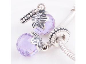 [Search Name: Morning Butterfly, Tanzanite] European Dangle, 925 Solid Sterling