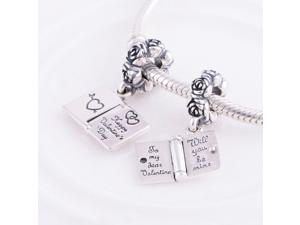[Search Name: Love Note] European Bead, 925 Solid Sterling