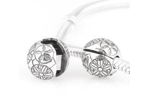 [Search Name: Bubbling Flower] European Lockers chains, 925 Solid Sterling Locker