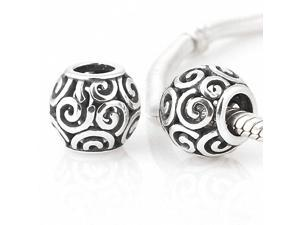 [Search Name: Ocean Breeze] European Pando Findings/100% Sterling Charm/Threaded Charm, 925 Solid Sterling Charm Bead