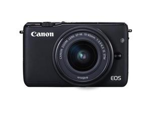 Canon EOS M10 Mirrorless Digital Camera with 15-45mm Lens In Black