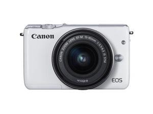 Canon EOS M10 Mirrorless Digital Camera with 15-45mm Lens In White