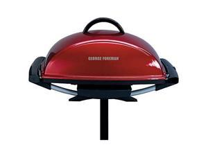 George Foreman GFO201R Indoor/Outdoor Electric Grill, Red