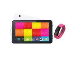 "SUPERSONIC SC-6207FITPK Allwinner Quad Core ARM Cortex A7 7"" 7"" Wht Tablet Pink Fitband Android 4.4 (KitKat)"