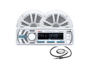 Boss Audio MCK1440W.6 Package w/MR1440U Receiver, 2 MR6W Speakers & MRANT10 Antenna