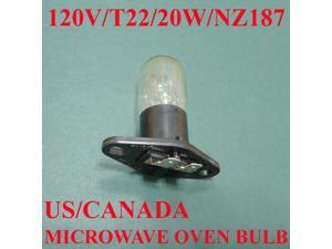 Microwave Oven Light Bulb Lamp Globe, NZ187, 125V, 20W