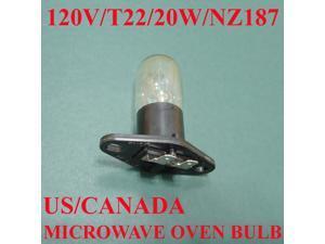 Microwave Oven Light Bulb Lamp Globe, NZ187, 125V, 20W