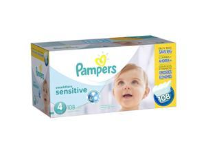 Pampers Swaddlers Size 4 Sensitive Diapers Super Economy Pack - 108 Count