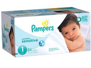 Pampers Swaddlers Size 1 Sensitive Diapers Super Pack - 84 Count