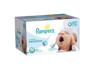 Pampers Swaddlers Newborn Sensitive Diapers Super Pack - 80 Count