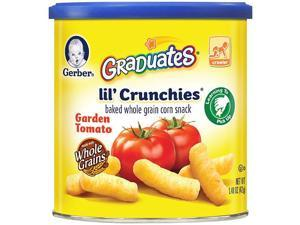 Gerber Graduates Lil' Crunchies Baked Whole Grain Corn Snack, Garden Tomato ,