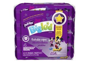 Pull-Ups Big Kid Flushable Wipes, Soft Pack, 204ct