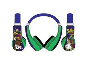 Teenage Mutant Ninja Turtles Kids Friendly Headphones - Yellow/Green