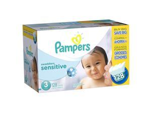 Pampers Swaddlers Size 3 Sensitive Diapers Super Economy Pack - 128 Count