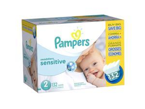 Pampers Swaddlers Size 2 Sensitive Diapers Super Economy Pack - 132 Count