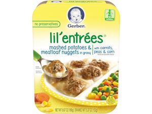 Gerber Lil Entrees Mashed Potatoes & Meatloaf Nuggets in Gravy with Carrots,