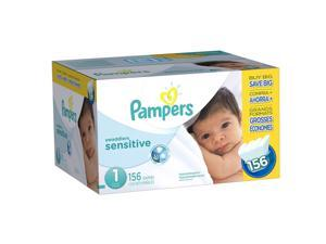 Pampers Swaddlers Size 1 Sensitive Diapers Super Economy Pack - 156 Count