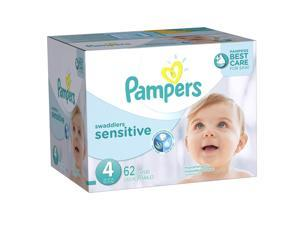 Pampers Swaddlers Size 4 Sensitive Diapers Super Pack - 62 Count