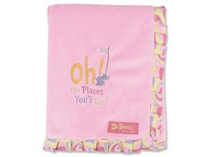 Trend Lab Receiving Blanket - Ruffle Trimmed Dr. Seuss Pink - 30343