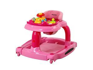Dream On Me 2-in-1 Baby Tunes Musical Activity Walker & Rocker - Pink
