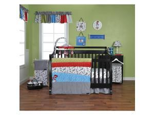 Trend Lab Dr. Seuss Cat in the Hat 6-Piece Crib Bedding Set - Black/White