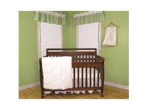 Trend Lab White Pique 4-Piece Crib Bedding Set