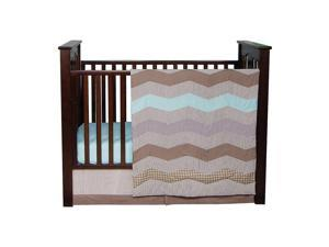 Trend Lab Cocoa Mint 3 Piece Crib Bedding Set - Taupe/Mint Green