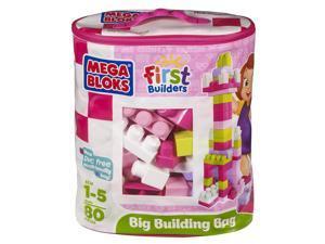 Mega Bloks First Builders Big Building Bag - Pink 80 pcs