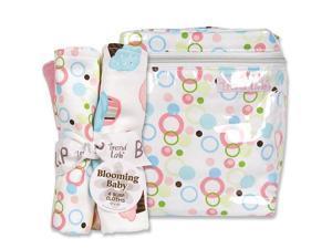 Trend Lab Cupcake Bottle Bag and Burp Cloth Set