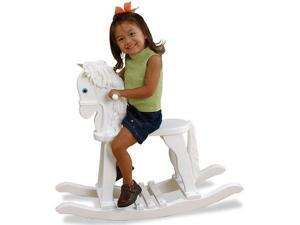 KidKraft Wooden Derby Rocking Horse-White